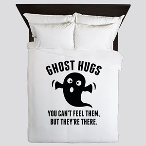 Ghost Hugs Queen Duvet
