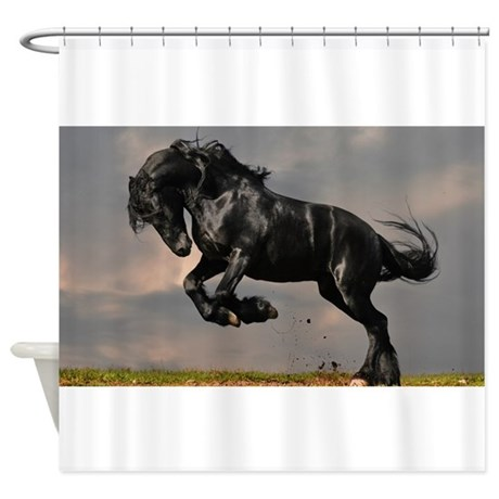 Beautiful Black Horse Shower Curtain By WickedDesigns4
