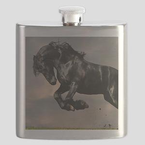 Beautiful Black Horse Flask