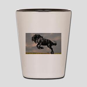 Beautiful Black Horse Shot Glass