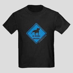 Piss On Animal Abusers Kids Dark T-Shirt