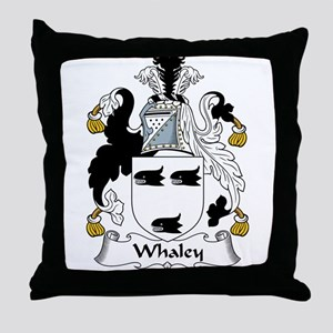 Whaley Family Crest Throw Pillow