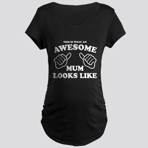 Awesome Mum Maternity Dark T-Shirt