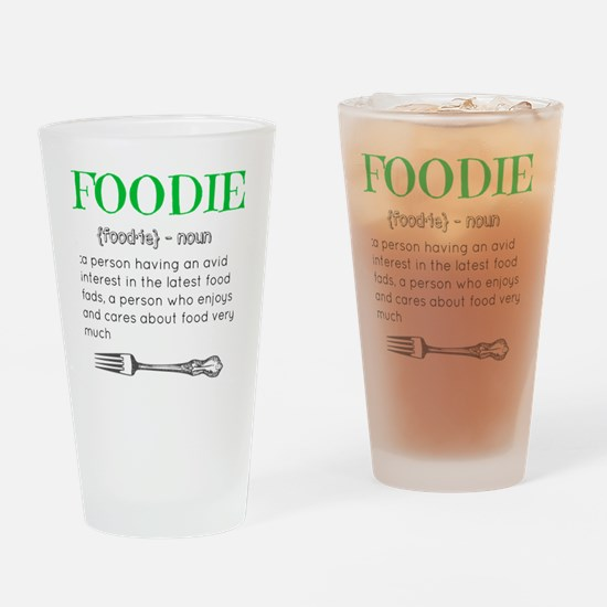 Foodie Definition  Drinking Glass