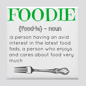 Foodie Definition  Tile Coaster