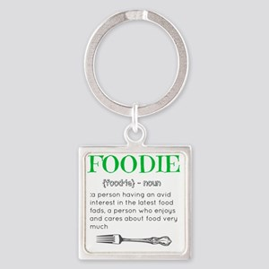 Foodie Definition  Square Keychain
