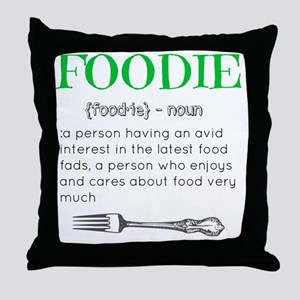 Foodie Definition  Throw Pillow