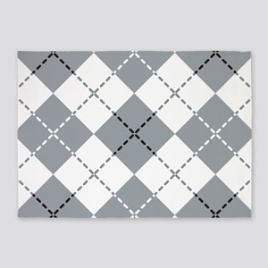 Argyle Design 5'x7'Area Rug