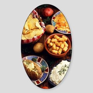Potato Foods Sticker (Oval)