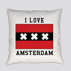 I Love Amsterdam Everyday Pillow