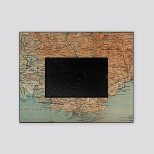 Vintage Map of Southern France (1914 Picture Frame