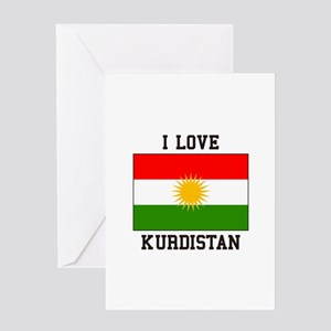 I Love Kurdistan Greeting Cards