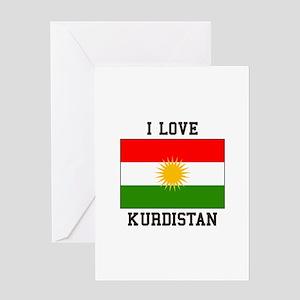I Love Kurdistan Greeting Cards