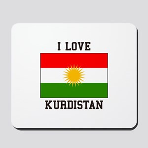 I Love Kurdistan Mousepad