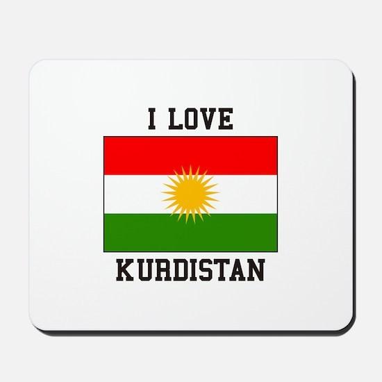 I Love Kurdistan Mousepad