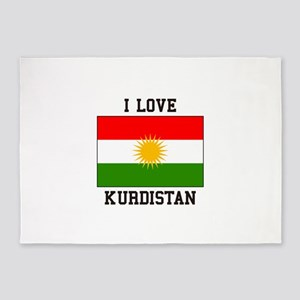 I Love Kurdistan 5'x7'Area Rug