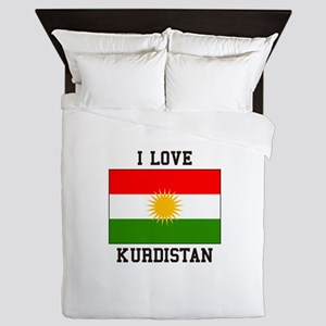I Love Kurdistan Queen Duvet