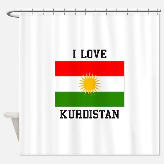 I Love Kurdistan Shower Curtain