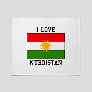 I Love Kurdistan Throw Blanket