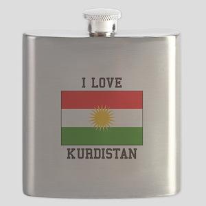 I Love Kurdistan Flask