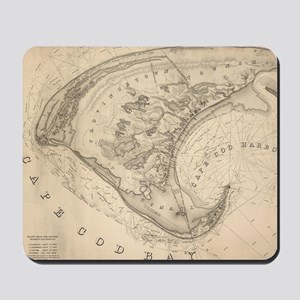 Vintage Map of Provincetown (1836) Mousepad