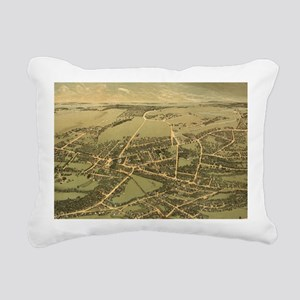 Vintage Pictorial Map of Rectangular Canvas Pillow