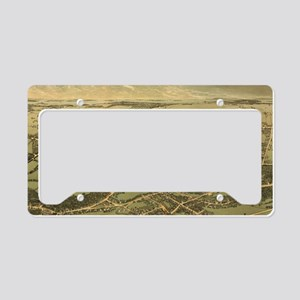 Vintage Pictorial Map of Quin License Plate Holder