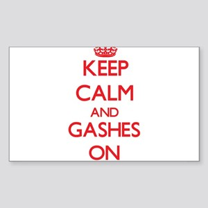Keep Calm and Gashes ON Sticker