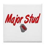 USCG Major Stud Tile Coaster