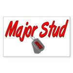 USCG Major Stud Rectangle Sticker