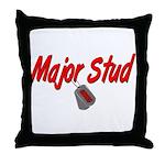 USCG Major Stud  Throw Pillow