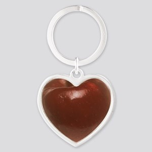 Red Apple Heart Keychain