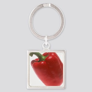 Red Pepper Square Keychain