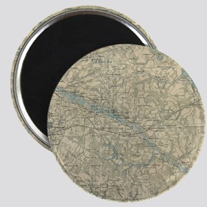 Vintage Map of The Richmond Virginia Area ( Magnet