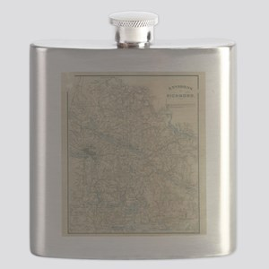 Vintage Map of The Richmond Virginia Area (1 Flask