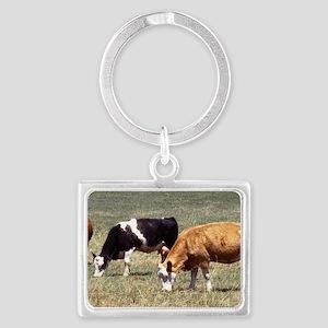 Cattle Farm Landscape Keychain