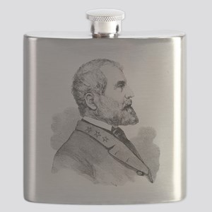 Robert E Lee Portrait Illustration Flask
