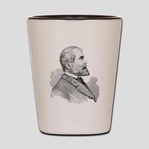Robert E Lee Portrait Illustration Shot Glass