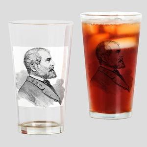 Robert E Lee Portrait Illustration Drinking Glass