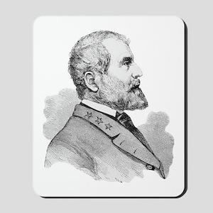 Robert E Lee Portrait Illustration Mousepad