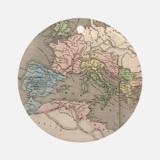 Vintage Map of The Roman Empire (18 Round Ornament