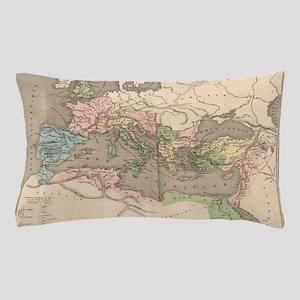 Vintage Map of The Roman Empire (1838) Pillow Case