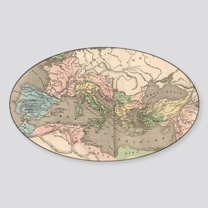 Vintage Map of The Roman Empire (18 Sticker (Oval)