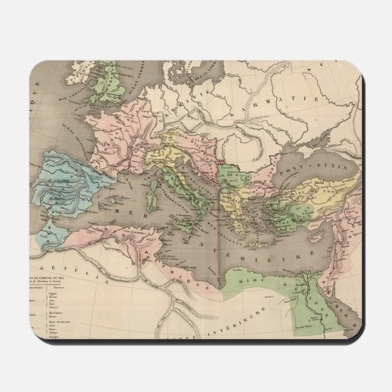 Vintage Map of The Roman Empire (1838) Mousepad