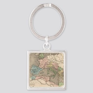 Vintage Map of The Roman Empire (1 Square Keychain