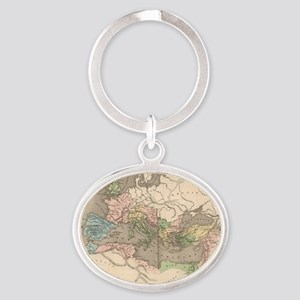Vintage Map of The Roman Empire (183 Oval Keychain