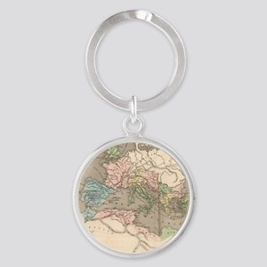 Vintage Map of The Roman Empire (18 Round Keychain
