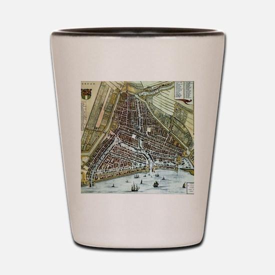 Vintage Map of Rotterdam Netherlands (1 Shot Glass