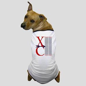 XC Run Red Blue Dog T-Shirt