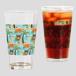 Tiki Island Drinking Glass